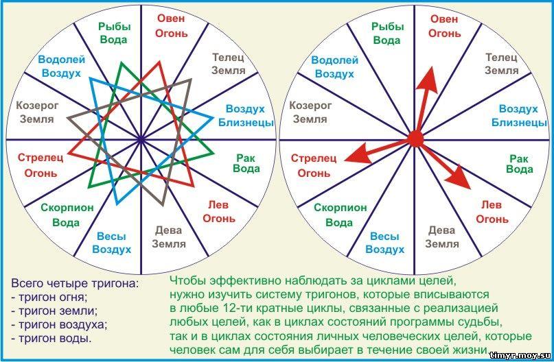 Тригоны часть циклов целей.