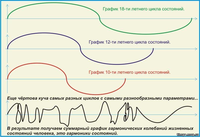Графики циклов состояний и целей.
